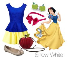 """""""Disney Inspired Outfits: Snow White"""" by morganautical ❤ liked on Polyvore featuring Labour of Love, Forever New, Fergalicious, Swatch, disney, snowwhite, disneybound, DisneyWorld and disneyland"""