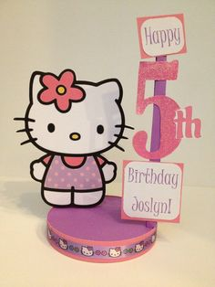Hello Kitty Custom Birthday Party Centerpiece by DivineDecorations, $17.00