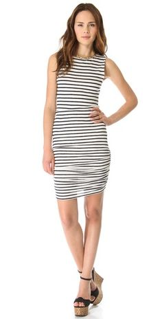 The perfect striped dress // AIR by alice + oliva