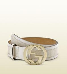 GG plus belt with interlocking G buckle
