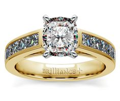 Cushion Princess Channel Diamond Engagement Ring in Yellow Gold http://www.brilliance.com/engagement-rings/princess-channel-diamond-ring-yellow-gold-1-ctw