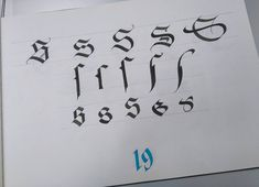 frak_one-S s (long s inside the words) Gothic styles, from left to right: Textura, Rotunda, Fraktur, Batarde and Cursive. #frakone #calligraphymasters #calligraphy #calligraffiti #handwriting #lettering #hxcalligraphy #handstyle #gothic #blackletter #alphabet Sources :Claude Mediavilla, Julien Chazal, Scripsit.