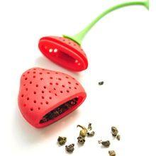 Silikon Strawberry Projekt Loose Tea Leaf Sitko ziołowe Spice Infuser Filter Tools 2014 Nowa darmowa wysyłka (Chiny (kontynentalne))