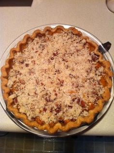 Apricot Crumb Pie Recipe   Dutch Apricot Pie With Crumb Topping