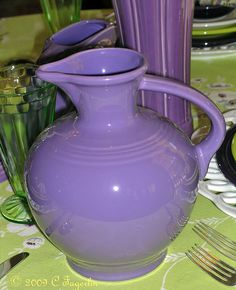 Lilac. Fiesta. Carafe.  Love this color!