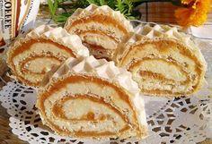 Rolat u oblandi – Recepti za sve Serbian Recipes, Russian Recipes, Cookie Recipes, Dessert Recipes, Romanian Desserts, Torte Cake, Creme Caramel, No Bake Treats, Sweet Cakes