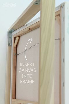 Never pay big bucks on a floating frame for your canvas art again! This easy DIY tutorial shows you how to quickly assemble your own floating frame! Diy Canvas Frame, Frames For Canvas Paintings, Framing Canvas Art, Frame A Canvas Painting, Framed Canvas Prints, Framed Art, Diy Wall Art, Diy Art, Cheap Wall Art