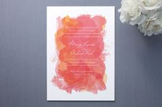 Aquarelle wedding invitations by Paper Plains available on Minted