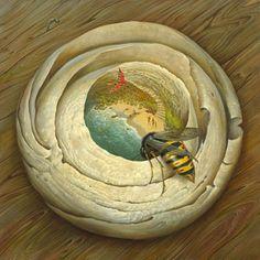 Vladimir Kush - «One Flew over the Wasp's Nest».jpg