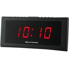 Electrohome - Jumbo Desktop Clock Radio - W RMS - Black - Black - Larger Front College Dorm List, Desktop Clock, Tv Stand With Mount, Home Tv, Digital Alarm Clock, Home Theater, Tvs, Cool Things To Buy, Larger