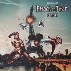 attack on titan 2018  paris by Ysk