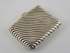 Antique 1891 Sterling Silver Cigarette Case - The Collectors Bag