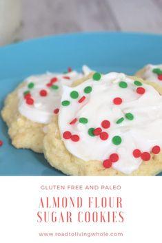 gluten free almond flour sugar cookies