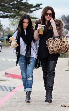 Love this look...rolled up jeans with boots