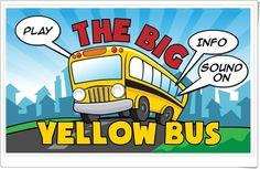 """""""The Big Yellow Bus"""" es un bonito juego, de mrnussbaum.com, en el que se ha de colocar a cada niño en su asiento dentro del gran autobús amarillo. El número del asiento será el resultado de la suma que cada número expresa."""