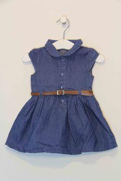 3f46f8fa89c3 Vestido Nannette Niña Jeans Cuadros Multicolores Talla 5