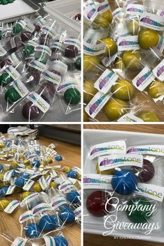 We did these cool company giveaways for Flowstone Design for a show to attract attention! There are our colorful salted caramel domes. Administrative Professional Day, Artisan Chocolate, Business Gifts, Appreciation Gifts, Corporate Gifts, Giveaways, Personalized Gifts, Caramel, Colorful