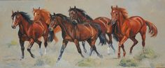 horse painting by Cynthia Ridgen