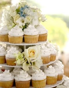 Many modern brides are choosing to serve wedding cupcake towers at their receptions in lieu of the traditional wedding cake. Wedding cupcakes...