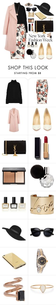 """NYFW"" by oshint ❤ liked on Polyvore featuring Hobbs, Christian Louboutin, Yves Saint Laurent, Chanel, Balmain, Lanvin, Topshop, Goldgenie, Rolex and Catbird"