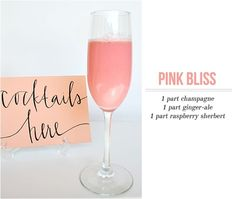 Image result for pink champagne cocktail