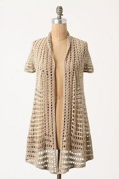 Anthropologie Crochet Calado cardigan. Size s https://fanaticadetejido.wordpress.com/2014/05/24/crochet-calado-cardigan-sueter-de-anthropologie-patrones-patron/