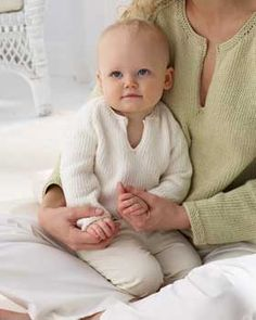 This comfy little knit pullover will keep baby warm and happy.