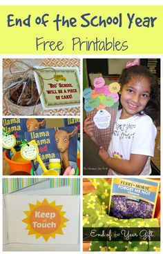 Free Printables to Celebrate the End of the School Year~  Mostly for early elementary, but some of these ideas can be adapted to different levels.  Clever and fun!