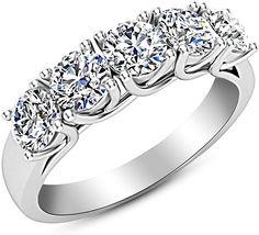 MoAndy Wedding Band Anniversary Promise Engagement Bridal Ring Sets Infinity White Zircon Sz 5-11