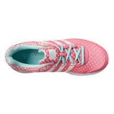 Polka dots pink and mint running shoes by adidas