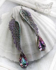 WINGS at DAWN fantasy patina silver angel by TheVictorianGarden, $37.00
