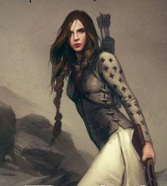 .pretty lady archer, fantasy inspiration, character inspiration