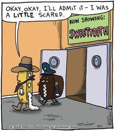 The Argyle Sweater Funny Cartoons, Funny Comics, Funny Jokes, Hilarious, Food Jokes, Cartoon Humor, You Funny, Funny Cute, Funny Things