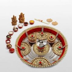 #DiwaliDecor #FabFurnish The lovely Pooja Thali would make my Diwali complete and auspicious
