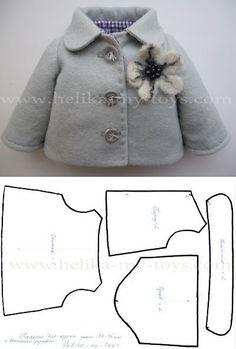 МК пальто для куклы | Детские мечты