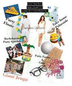 """Club pool party ideas"" by erica-m-cutrer on Polyvore featuring art"
