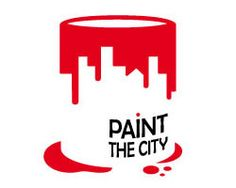 Paint the City logo. Nice use of negative space.