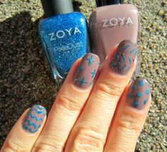 Concrete and Nail Polish: Patterns With Zoya