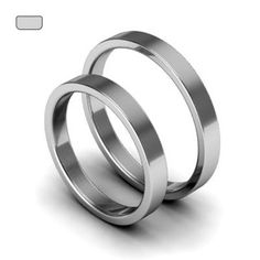 White Gold Wedding Bands Small Wedding Ring Set by WorldOfGold