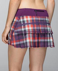 Lululemon Run: Pace Setter Skirt *2-way Stretch (Regular) 58.00Wheezy Check Multi Heathered Berry Yum Yum/Berry Yum Yum ~