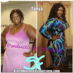 Tanya lost 76 pounds | Black Weight Loss Success