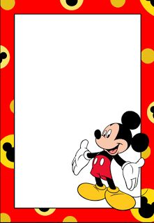 Mickey: Free Printable Frames, Invitations or Cards. - Oh My Fiesta! in english Mickey Mouse Frame, Mickey Mouse Clipart, Fiesta Mickey Mouse, Disney Classroom, Mickey Minnie Mouse, Birthday Party Invitations Free, Mickey Mouse Birthday Invitations, Mickey Mouse Clubhouse Birthday, Mickey Mouse Birthday