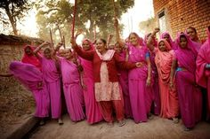 Pink Sari movement in India fights violence against women. The Gulabi Gang (gulabi means pink) take on abusive relatives and corrupt police, and have attracted widespread attention by going after a powerful legislator who raped a young girl. Sometimes they attack their adversaries with lathis (sticks), but they often employ more peaceful means.