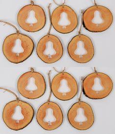 Wooden Christmas Ornaments, Christmas Decorations, Handmade Wooden, Handmade Gifts, Shops, Natural Christmas, Linseed Oil, Wood Slices, Handmade Decorations