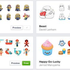 Facebook Stickers, the extra-large emoticons mobile users have been throwing into Facebook chats for a while now, are now also available on the web.