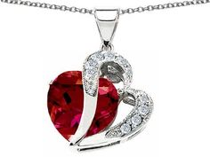Original Star K(tm) 7.50 Carat Large 12mm Created Ruby Double Heart Pendant with Sterling Silver Chain Star K. $99.99. Free Chain in a matching metal will be included. Star K. Designs are exclusive and protected by Copyright Laws. Guaranteed Authentic from the Star K designer line. Save 67% Off!