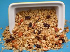 Maple Almond Granola Recipe (I'd replace the raisins with crasins, or maybe dried apple)