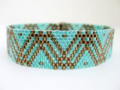 Peyote Pattern - Dots and Lines - INSTANT DOWNLOAD PDF - Peyote Stitch Bracelet Pattern