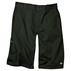 Dickies Men's Loose Fit Twill 13 Multi-Pocket Work Short- Olive Green 30