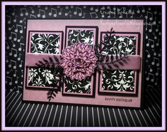 Birthday card Pink and balck always a good combo